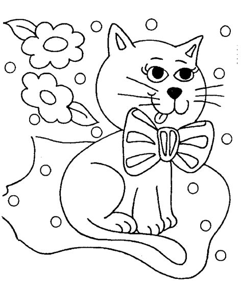 Cat Coloring Pages Kids Coloring Home Childrens Colouring Pages Free