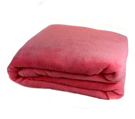 Decke Fleece by Blush Pink Soft Coral Fleece Blanket Luxury Fleecy Cosy
