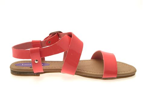 sandals uk womens patent flat strappy sandals summer buckle