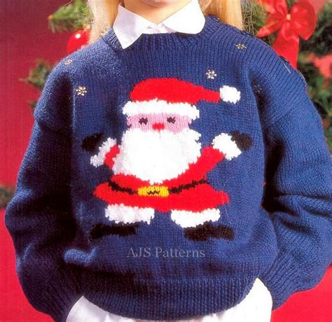 knitting pattern xmas jumper pdf knitting pattern for a childs santa claus by