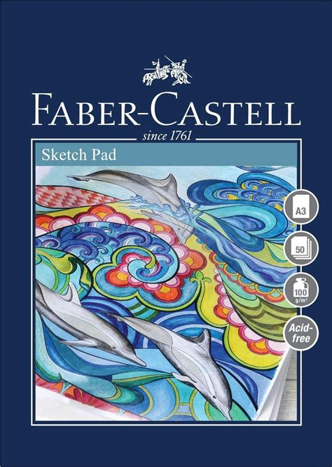 sketchbook faber castell faber castell graphic sketch pad a4 160 gsm pad of