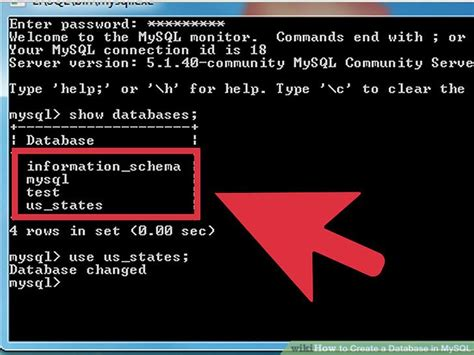 how to create table in mysql how to create a database in mysql 12 steps with pictures