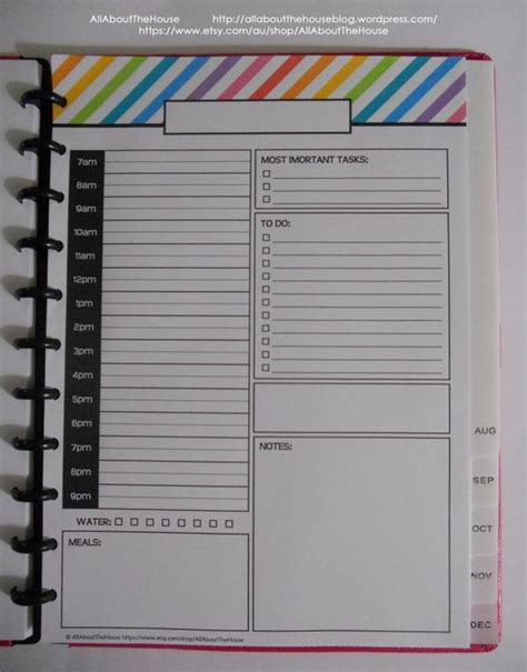 printable daily planner 2015 pdf daily planner day planner printable day to a page half