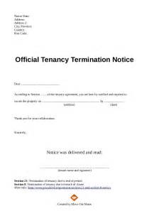 Template For Ending Tenancy Agreement landlord ending a tenancy agreement letter template