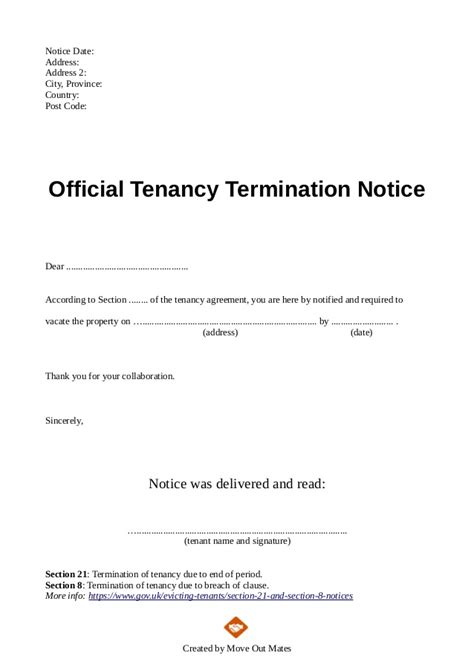 lease termination letter templates 18 free sample example ideas