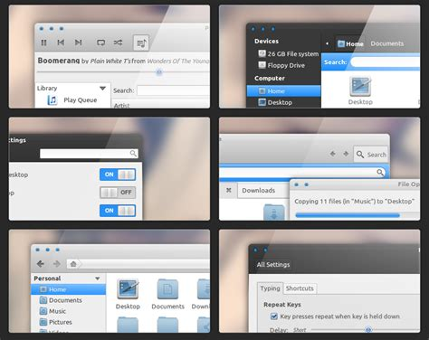 gnome user themes boomerang gtk 3 0 theme faience gnome shell theme