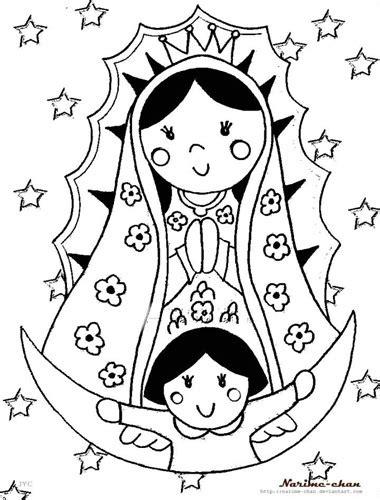 imagenes para dibujar de la virgen de guadalupe dibujos de la virgen mar 237 a para colorear