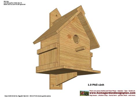 Home Garden Plans Bh100 Bird House Plans Construction Bird House Design How To