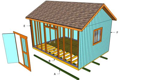 How To Build A Garden Shed Step By Step by How To Build A 12x16 Shed Howtospecialist How To Build