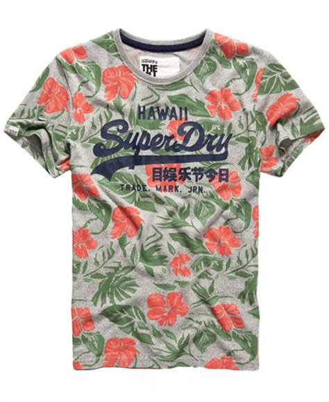 Superdry Floral Black With Grey Floral Print Silicone Syl1 superdry hawaii floral t shirt s t shirts