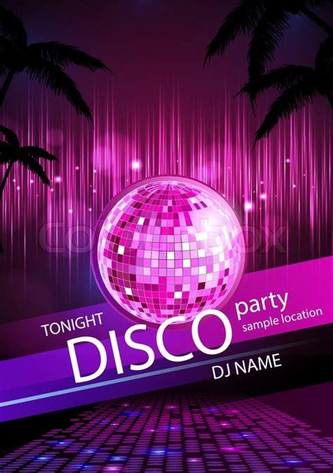 disco background disco background disco poster stock vector colourbox