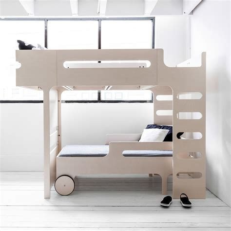 mezzanine bed funk double ladder mezzanine bed beige limed rafa kids design