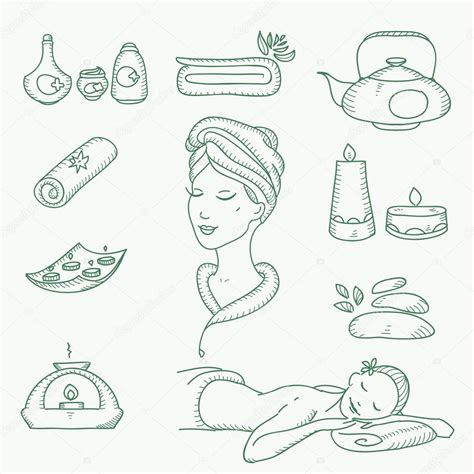 doodle draw icon pack apk spa doodle sketch icons set with towels aroma