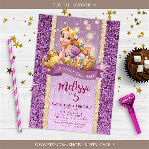 printable rapunzel birthday decorations digital rapunzel invitation rapunzel birthday invitation