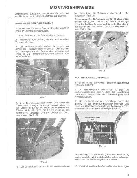Toro 38040 524 Snowblower Operators Manual 1979 German