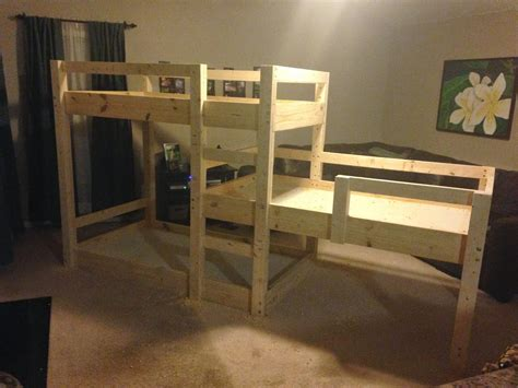 Three Level Bunk Bed Somehow It All Came Together The Great Bunk Bed Build