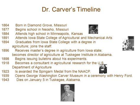 biography of george washington carver timeline george washington carver timeline of inventions