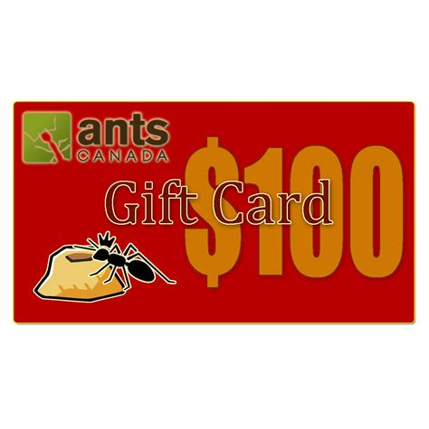 What Are E Gift Cards - e gift card 100 00 antscanada