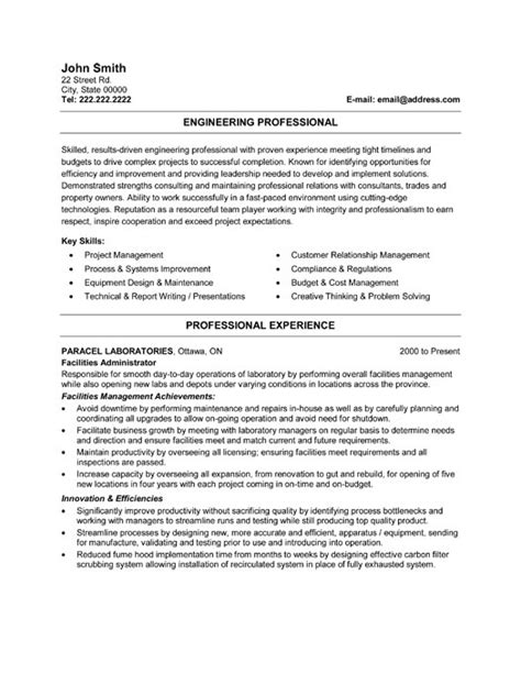 resume template for professionals professional resume templates resume sles resume