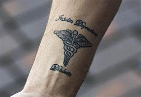healthcare tattoo medical tattoo informs others about a person s health