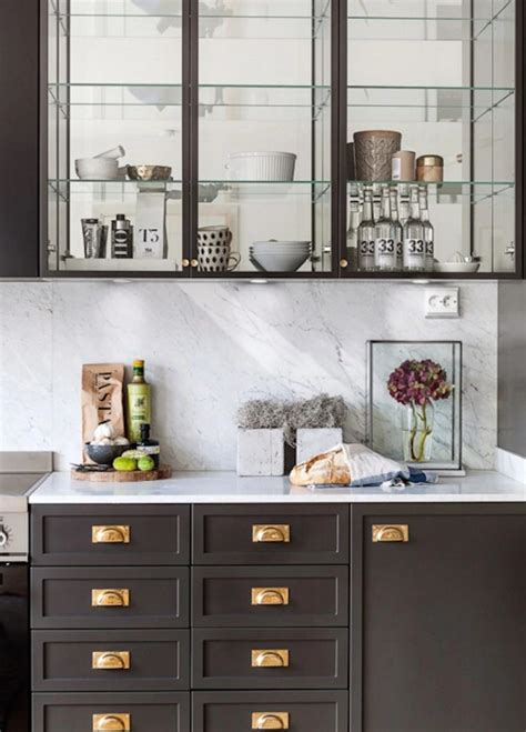 brass kitchen home gray and brass beautiful home