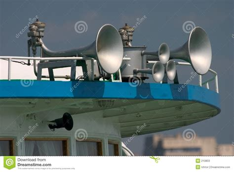 boat horn in fog foghorn stock image image of onboard loud horn double