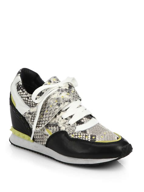 Detox Leather ash detox snake embossed leather sneaker in multicolor lyst