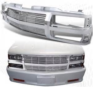 chevy tahoe 1995 1999 chrome billet grille shell
