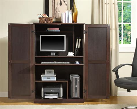 modern computer armoire furniture stunning display of wood grain in a