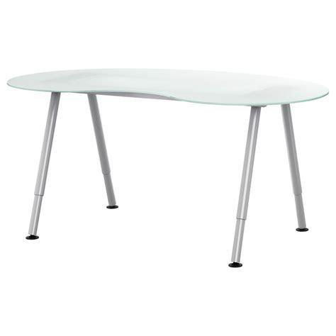 Kidney Bean Shaped Desk Galant Workstation Silver Color Ikea Desks And Tables Colors Kidney Beans