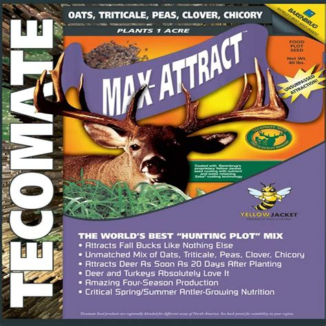 Foremost Faucets Parts Tecomate 40 Lb Max Attract Professional Wildlife Seed Mix
