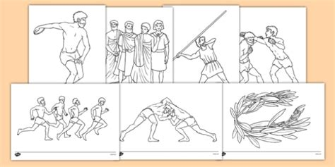 olympic coloring sheets ancient olympics colouring pages ancient olympics