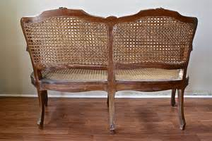 Cane Settee Furniture Antique French Double Cane Settee Omero Home