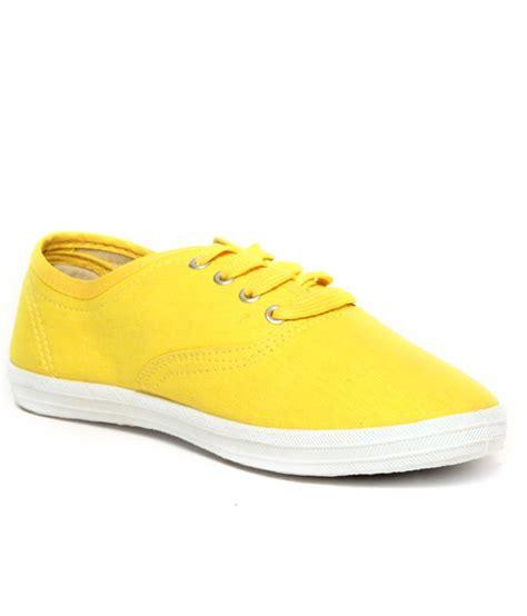 slazenger pastella yellow canvas shoes price in india buy