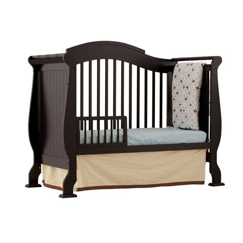 Black Convertible Baby Cribs Black Convertible Cribs Stork Craft Modena 4 In 1 Fixed Side Convertible Crib In Black