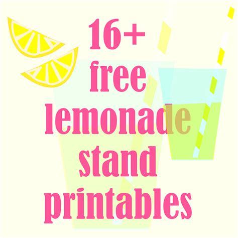 printable lemonade banner image gallery lemonade stand signs