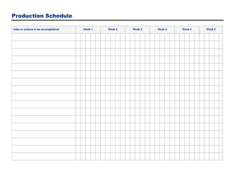 Free Printable Production Schedule Template And Sheet Sle For Excel Vatansun Microsoft Excel Production Schedule Template