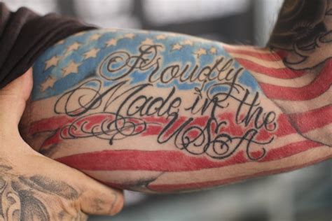 proudly made in usa patriotic tattoo on arm tattooimages biz