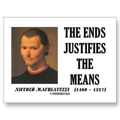 The End Justifies The Means Essay by Trust Tour