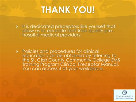 Thank You Letter Nursing Preceptor Sc4 Preceptor Ppt