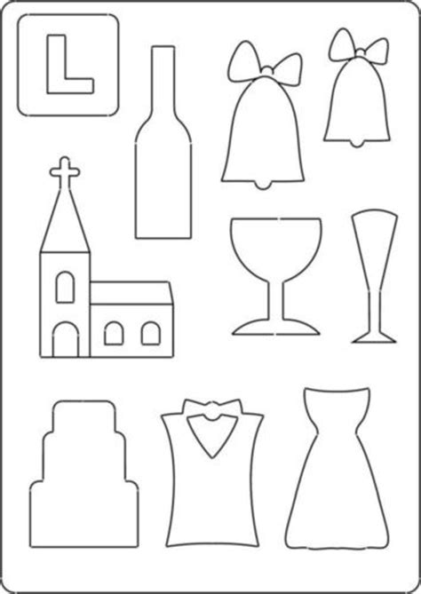 Wedding Bell Template by A4 Totally Themed Template Wedding Church Bells Bottle