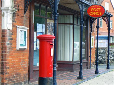 Post Office Co by Overstrand Norfolk Including Fishing Cottages Sea Marge