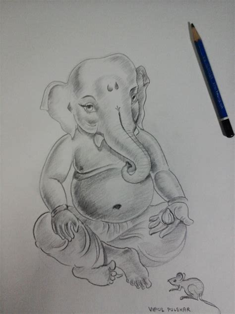 Sketches With Shading by Ganesh Sketch Drawing Ganesh Ji Sketch Collection 61