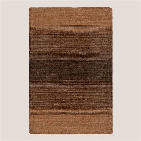 brown stripe rug ombre stripe kilim wool rug brown world market