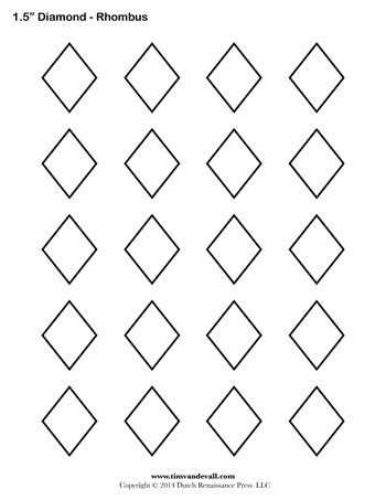 printable shapes rhombus a printable diamond rhombus shape sheet halloween