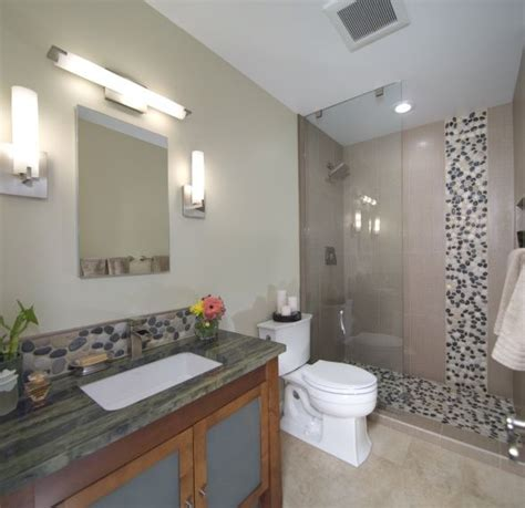 asian inspired river rock bathroom remodel this is an