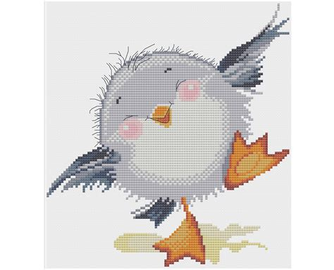 pattern etsy review baby seagull counted cross stitch pattern x stitch pdf