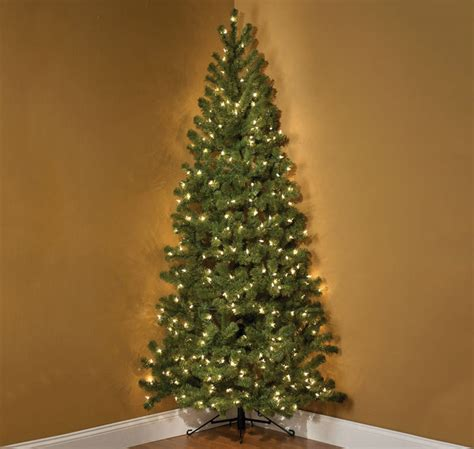 7 foot pre lit corner christmas tree the green head