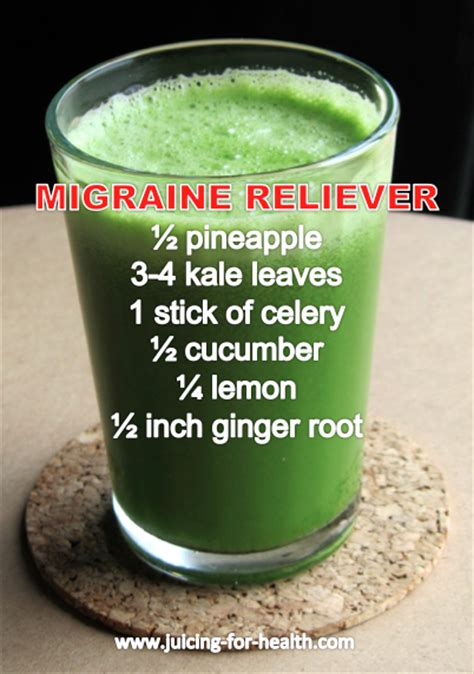 Detox Headaches Migraines by Migraine Reliever Juicing For Health