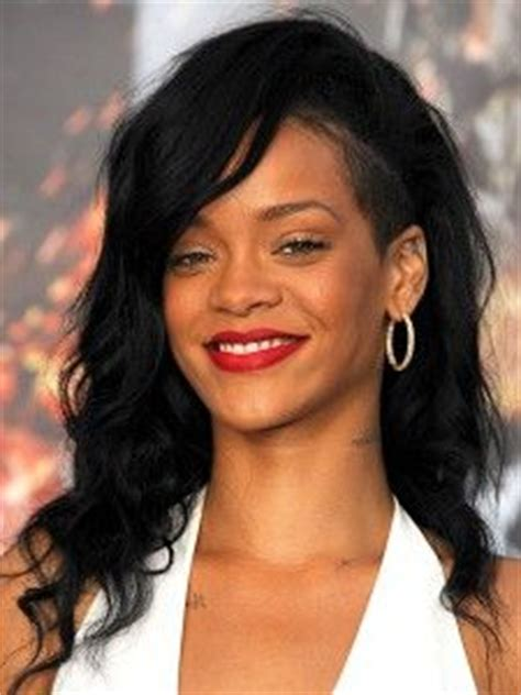 black hairstyles long on one side hairstyles on pinterest rihanna rihanna hairstyles and